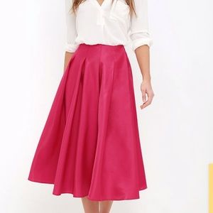 Face to face pink a line box pleats skirt small